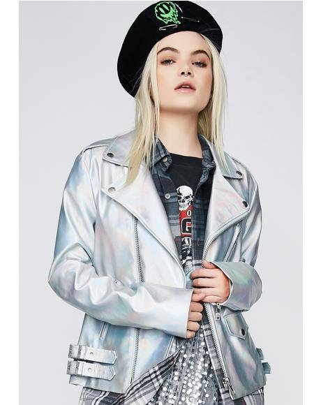 Galaxy Girl Moto Jacket