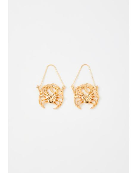 Caring Cancer Drop Earrings