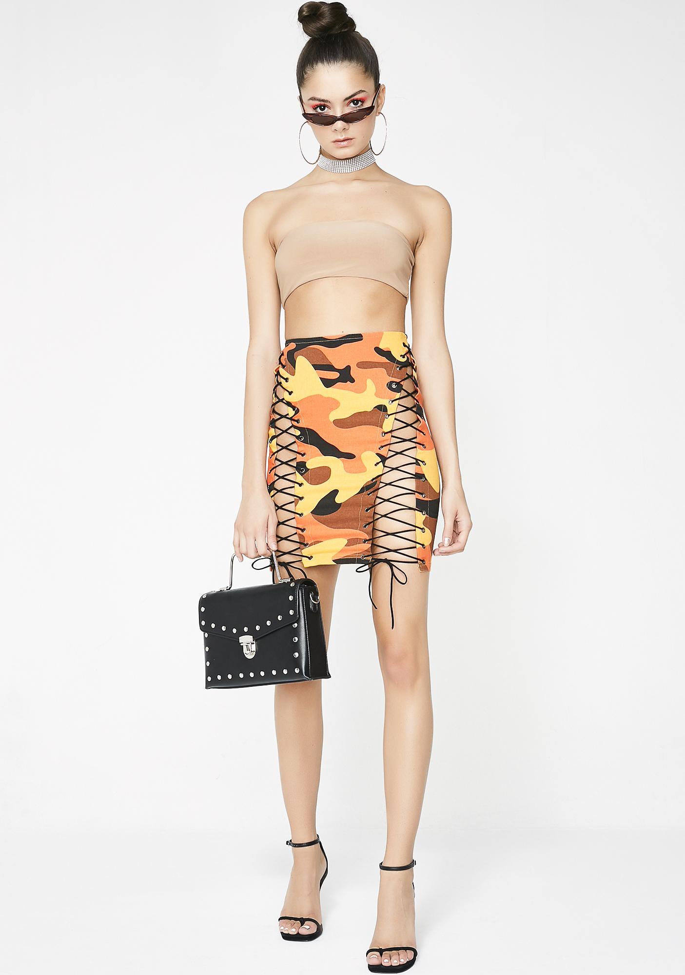 Love N' War Camo Skirt