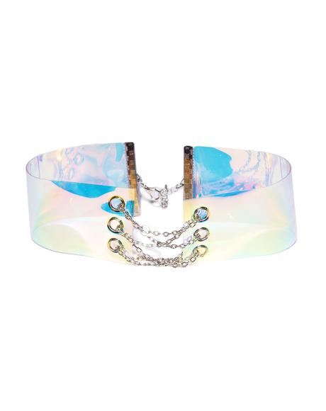 Give Me Space Iridescent Chain Choker