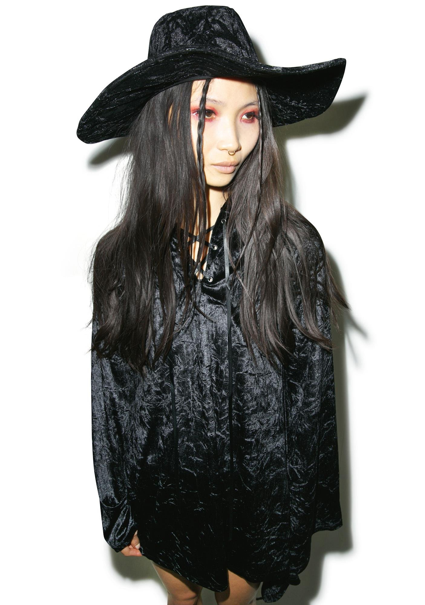 Killstar Velvet Witch Brim Hat