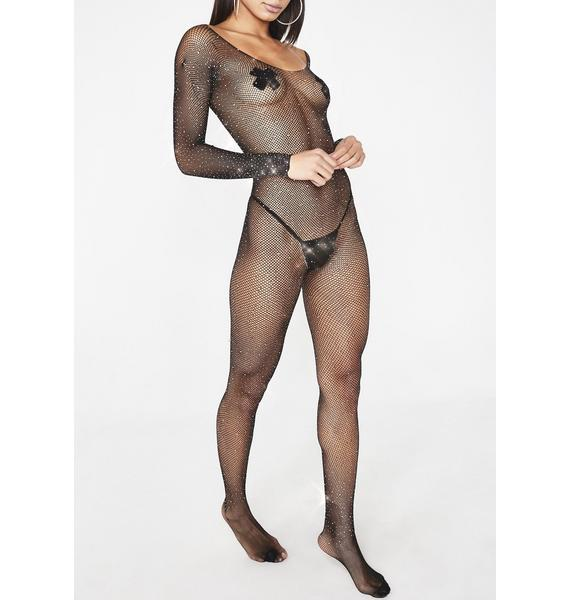 Dripped Out Fishnet Catsuit