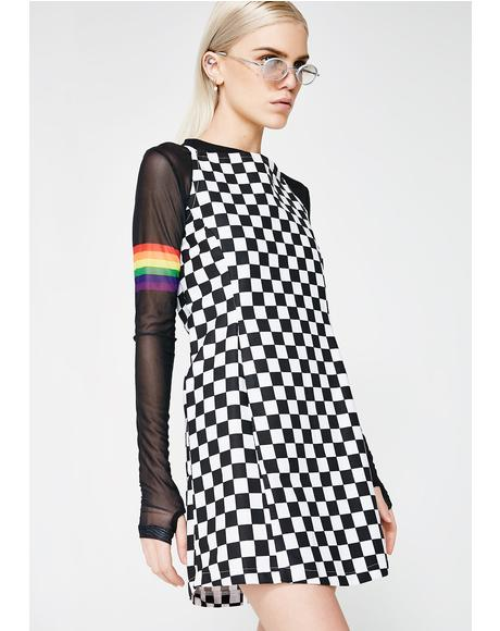 Checkered Zip It Dress