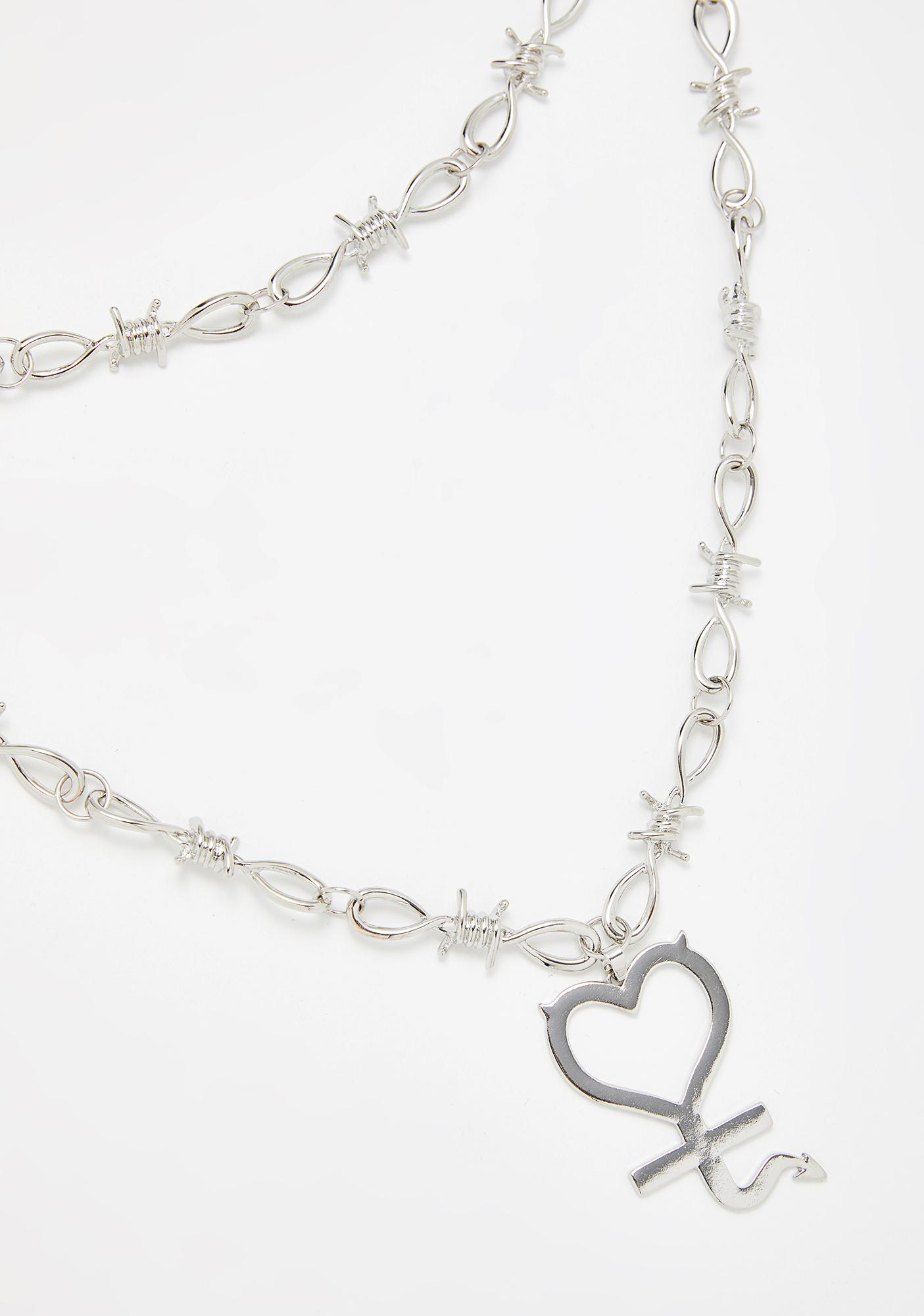 Barbed Heart Layered Necklace