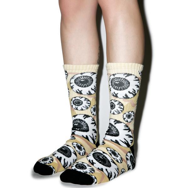 Mishka Camo Keep Watch Pattern Socks