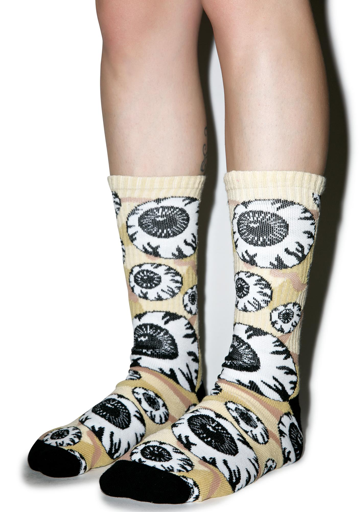 Mishka Camo Keep Watch Pattern Socks