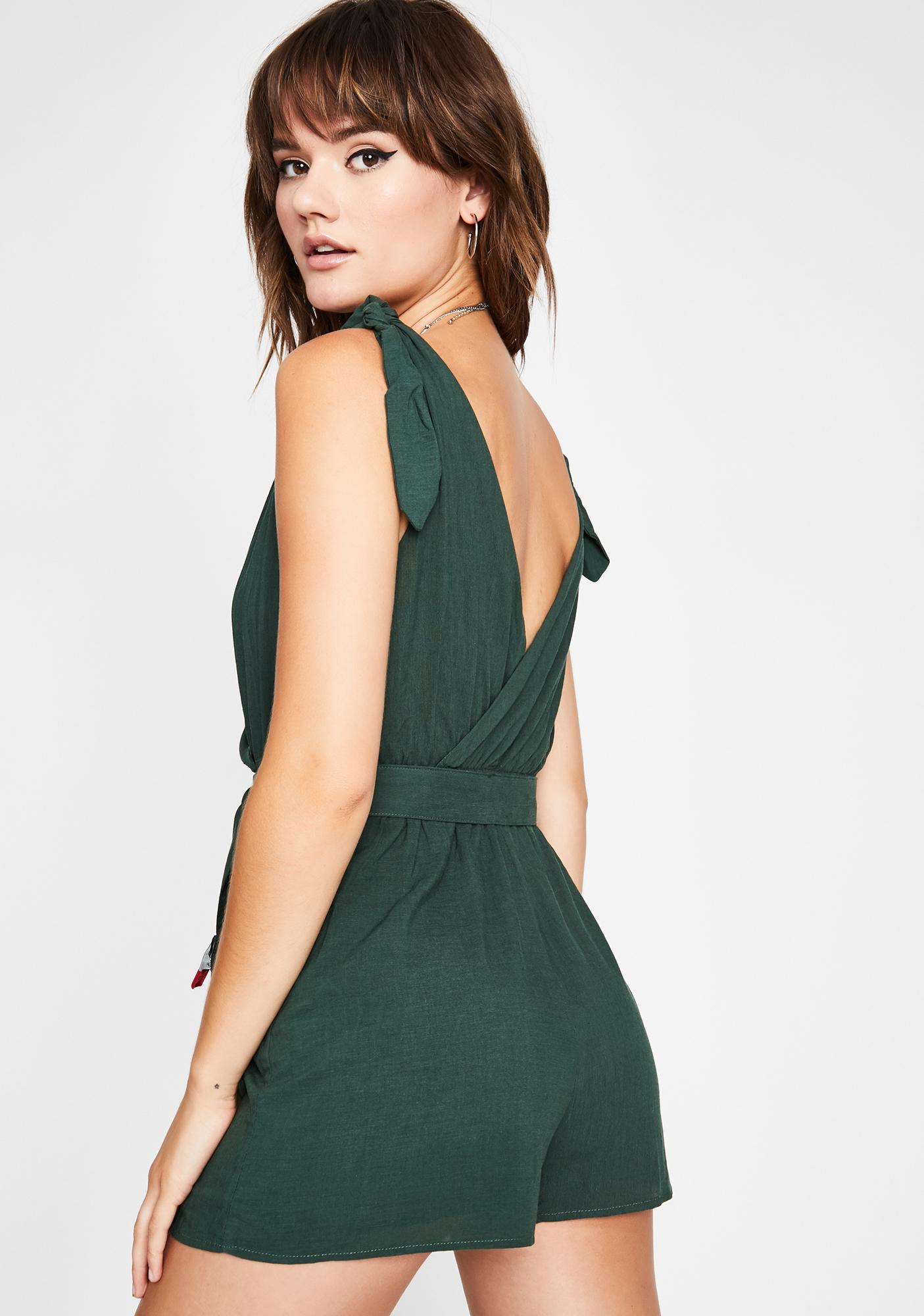 Forest Fairy Belted Romper
