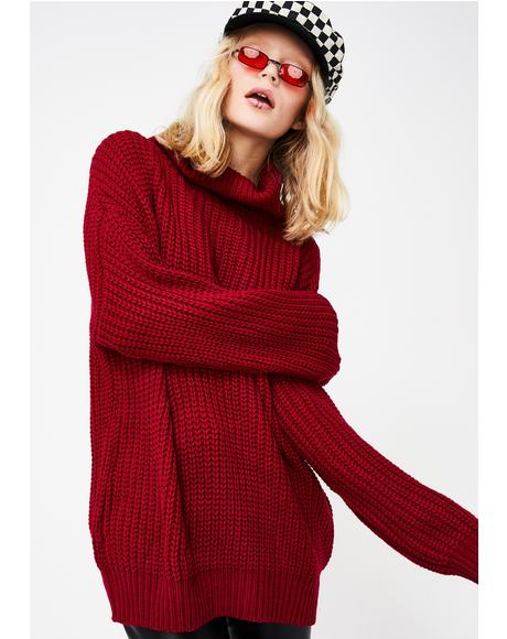 On The Flip Side Knit Sweater
