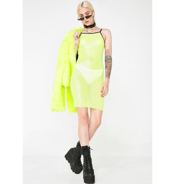 GoGuy Lime Green Mesh Dress