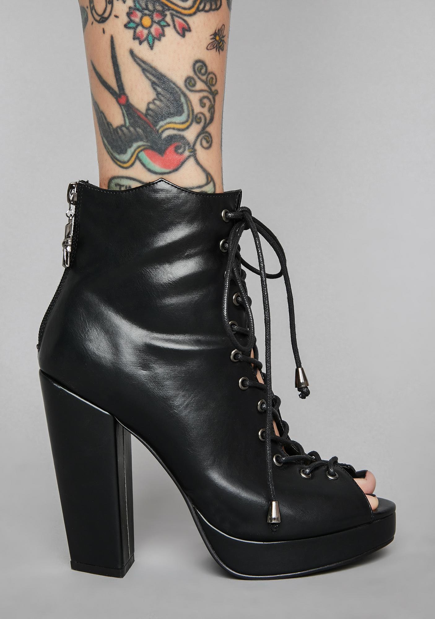 Widow Spirit Crusher Peep Toe Heels
