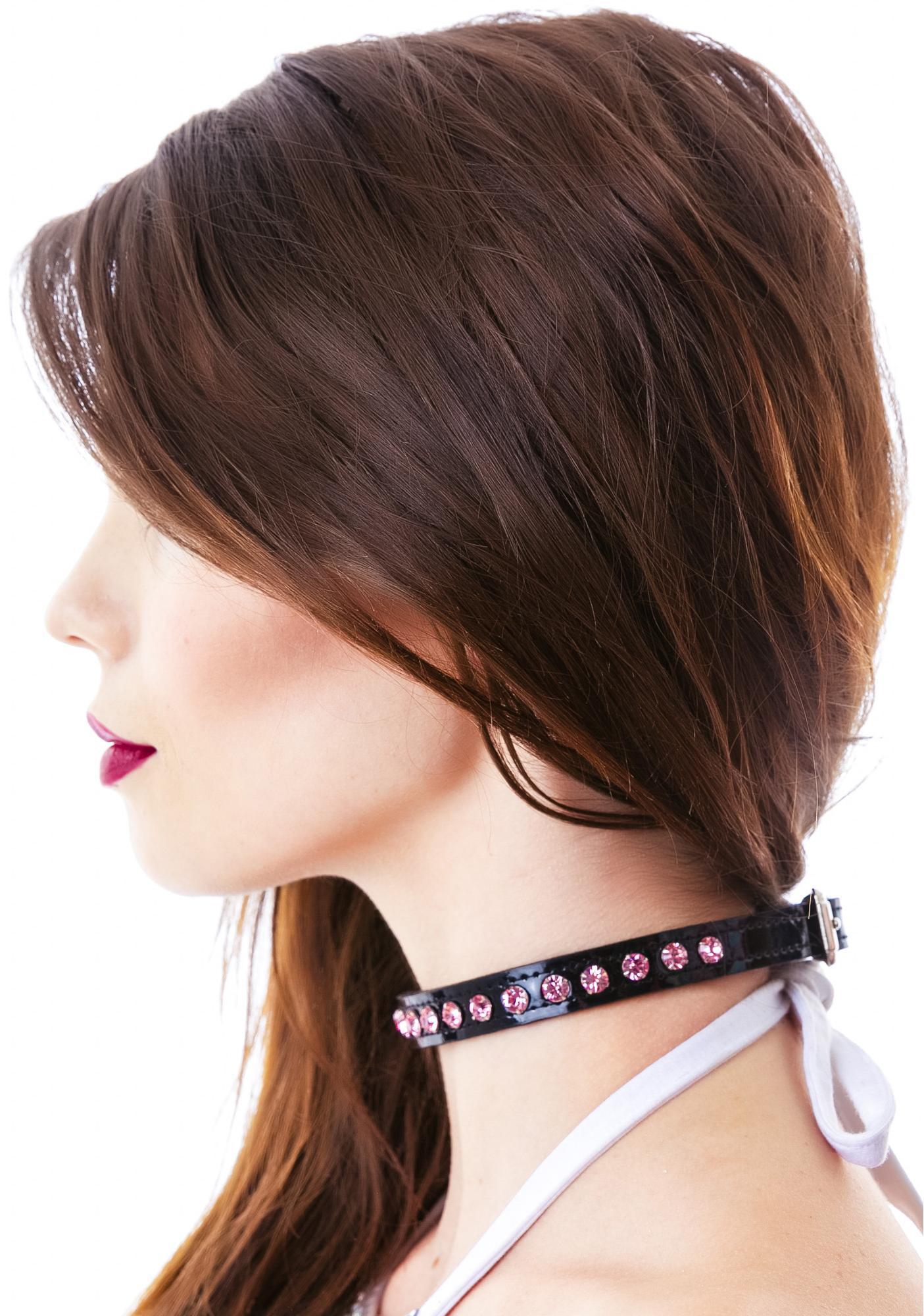 Pink Aurora Borealis Choker