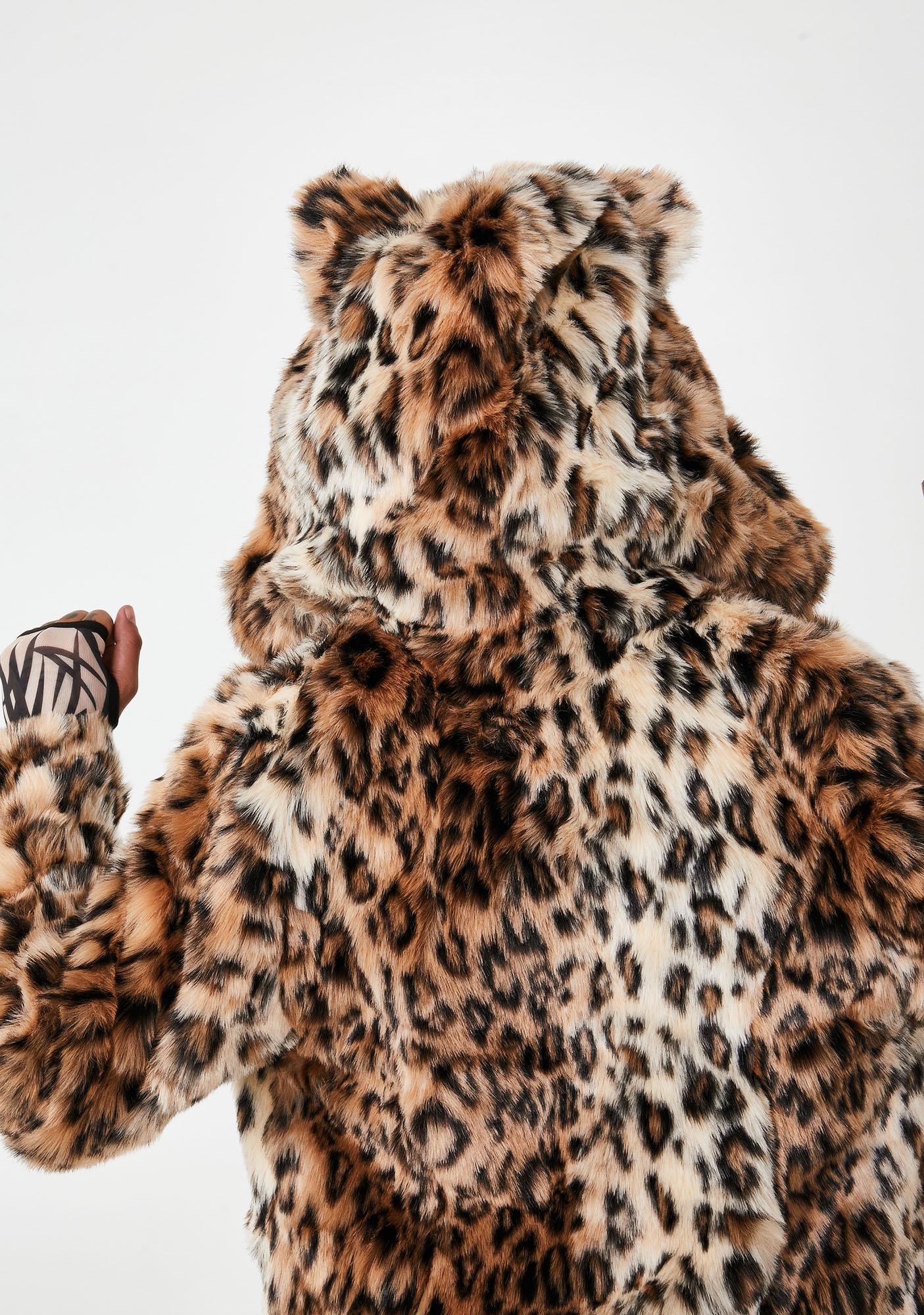 SpiritHoods Classic Leopard Faux Fur Coat
