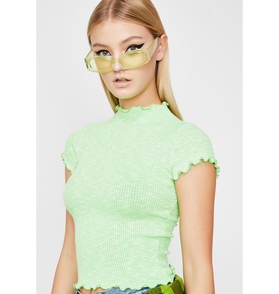 Slime Above Average Crop Top