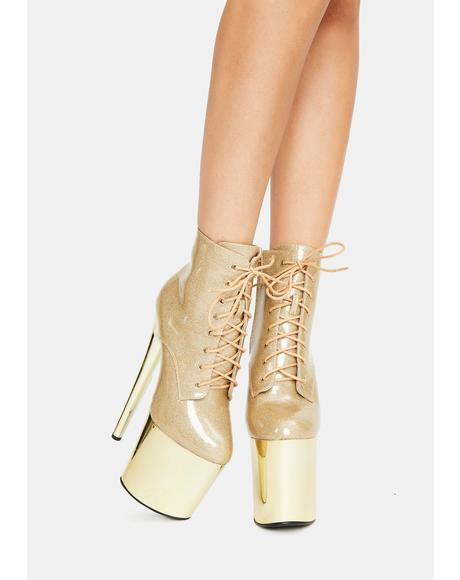 Rose Turn Back Time Platform Ankle Boots