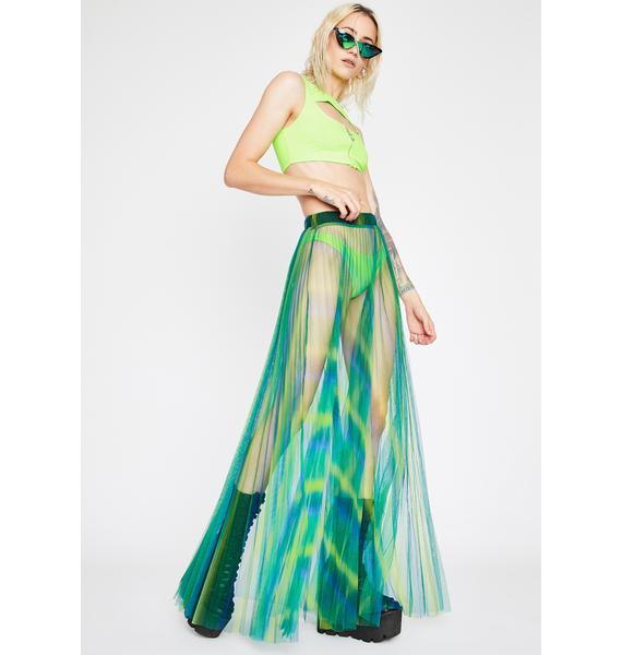 Minty Candy Flip Maxi Skirt