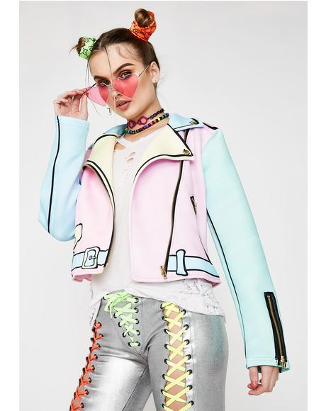 Pastel Realness Moto Jacket