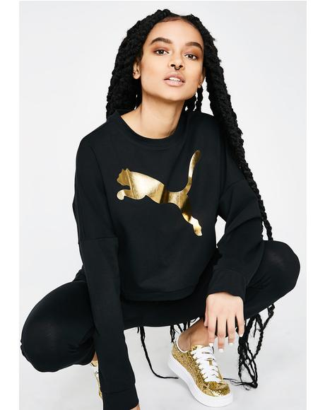 Rebel Cropped Crew Sweater