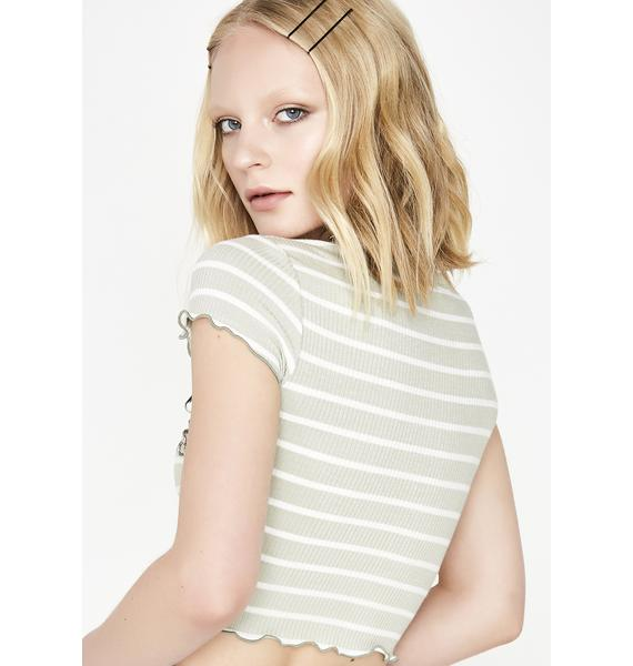 Melon Be Mellow Striped Top