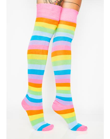 Cake Pop Thigh High Socks