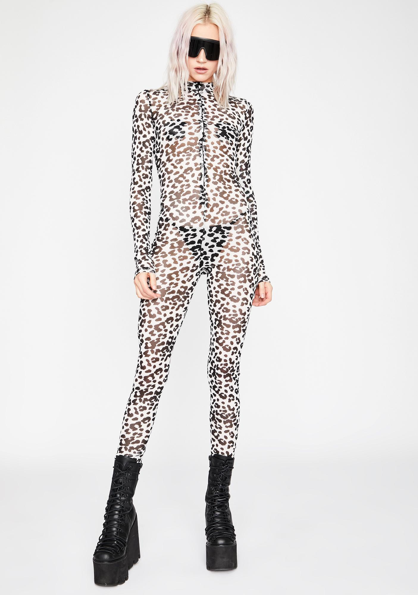 Bad Kitty Business Mesh Catsuit