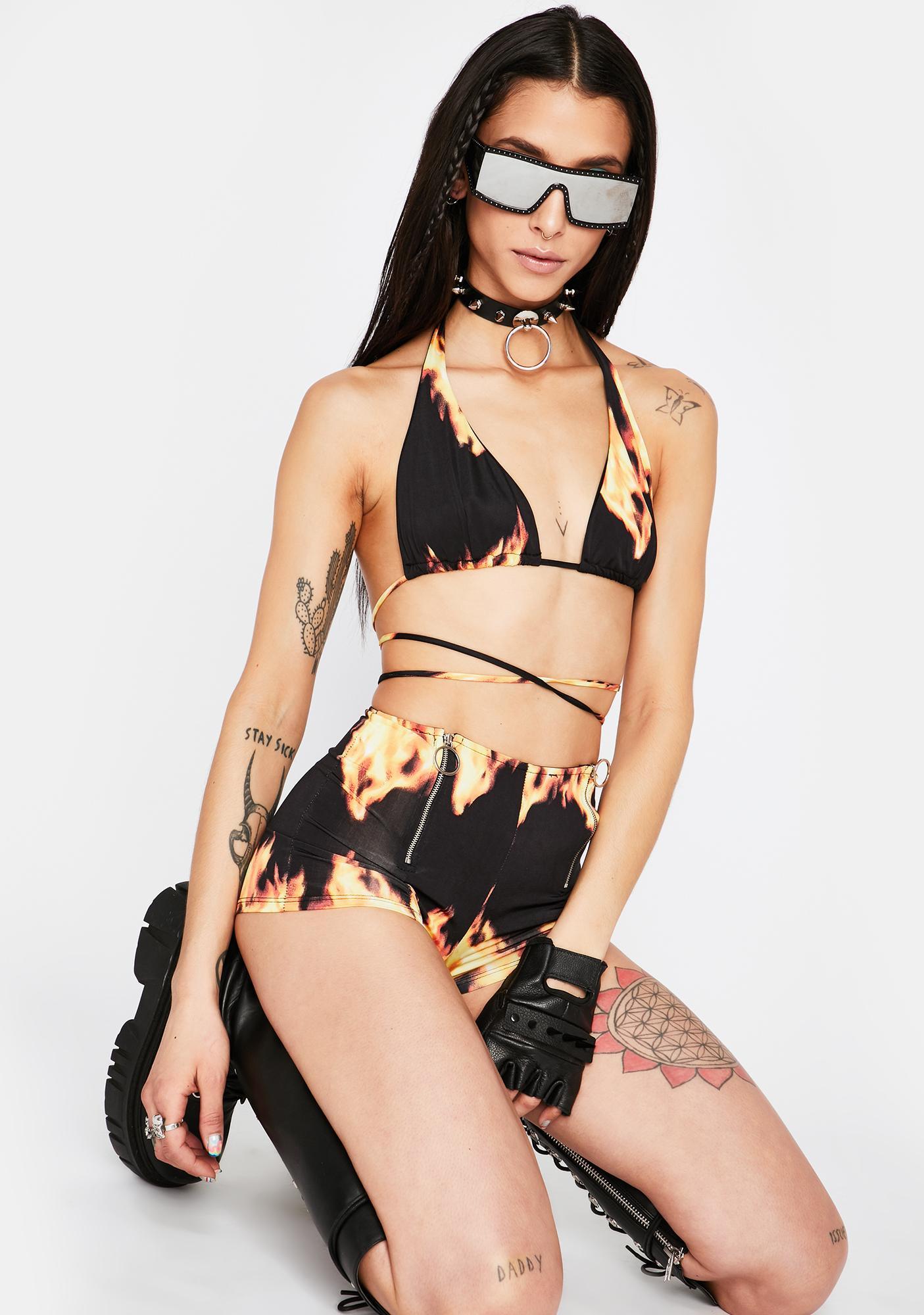 Hot Like Me Wrap Top