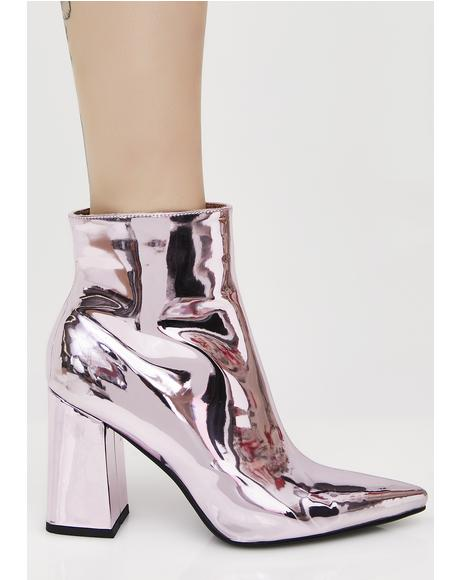 Empire Metallic Heeled Ankle Boots