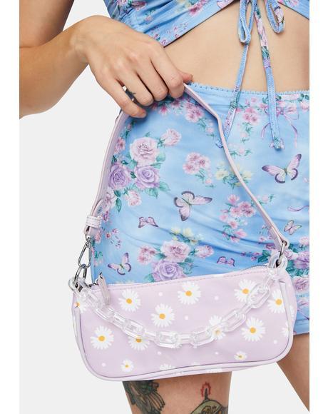 Lilac Better To Bloom Shoulder Bag
