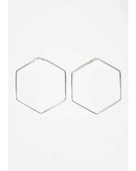 Hex Complex Hoop Earrings