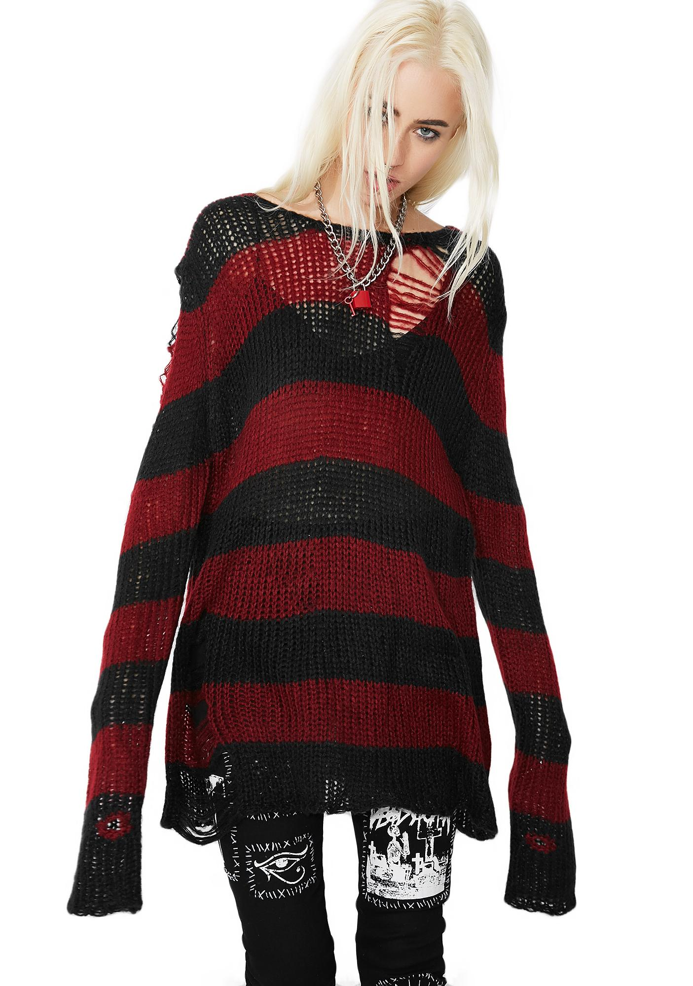 0d19968d95ac ... Current Mood Lost Cause Striped Sweater ...