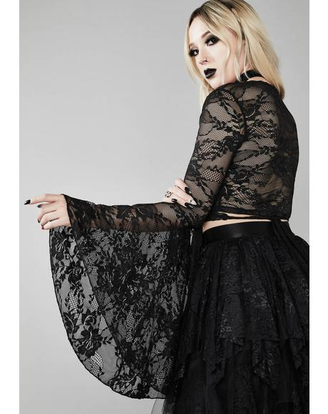 Bone Chilling Lace Top