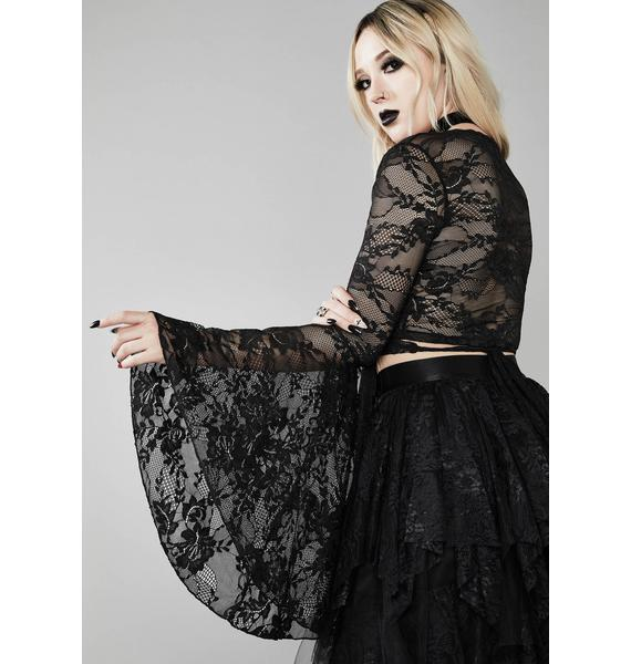 Widow Bone Chilling Lace Top