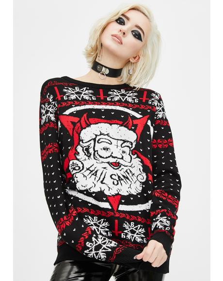 Hail Santa Christmas Sweater