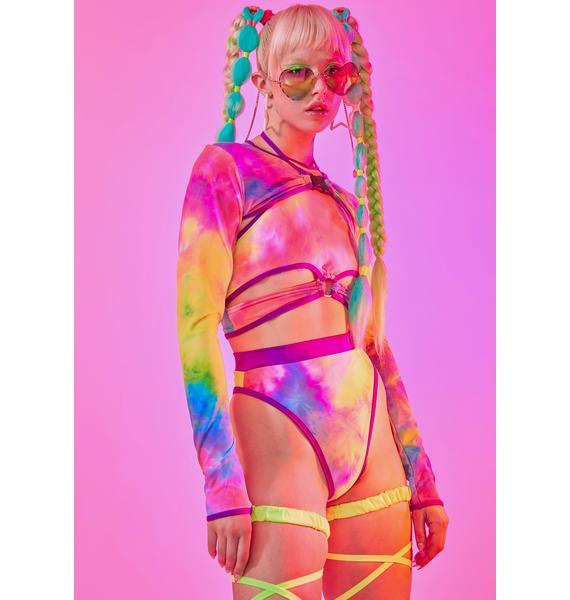 Rolita Rave Couture Trouble Mesh Tie Dye Shrug