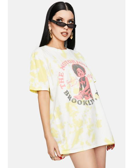 Notorious B.I.G. Tie Dye Graphic Tee