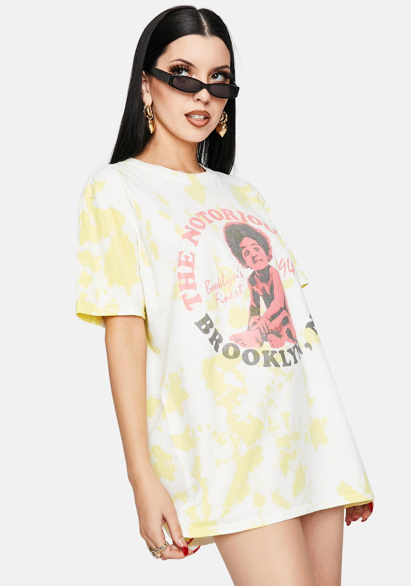 Daisy Street Notorious B.I.G. Tie Dye Graphic Tee