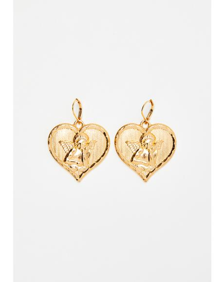 Love Lust Heart Earrings