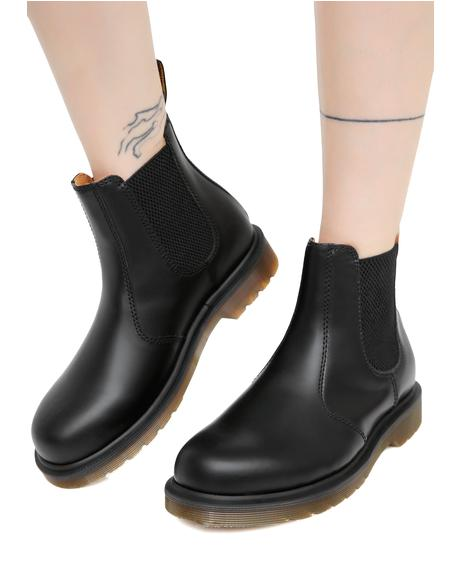Black 2976 8 Eye Yellow Stitch Boots