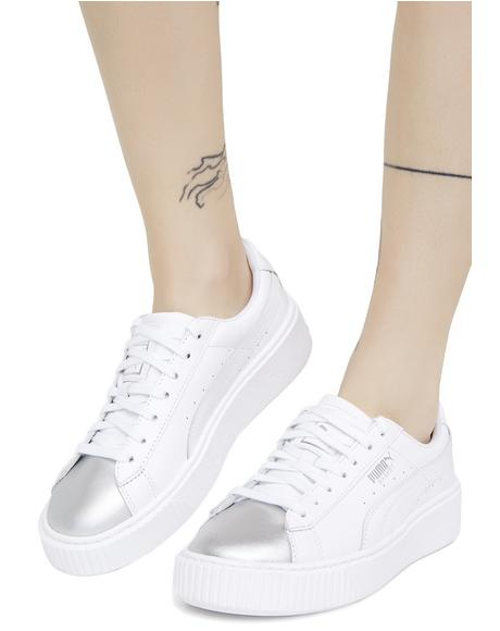 Basket Platform Iridescent Sneakers