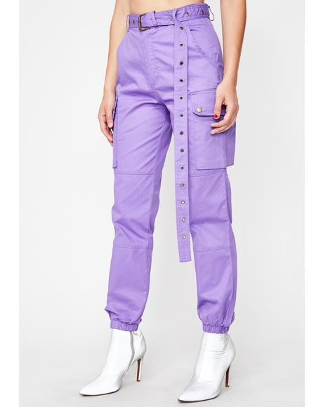 Grape Junglist Cargo Pants