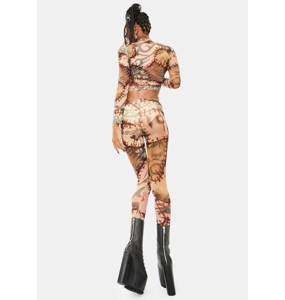 Dolls Kill Under Your Skin Mesh Leggings