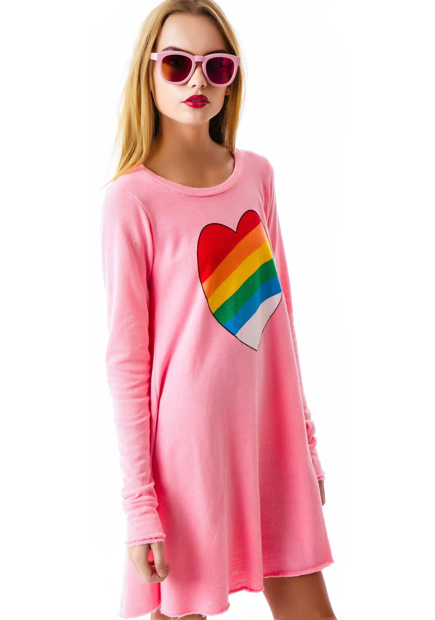 Wildfox Couture Brite's Heart Grunge Girl Dress