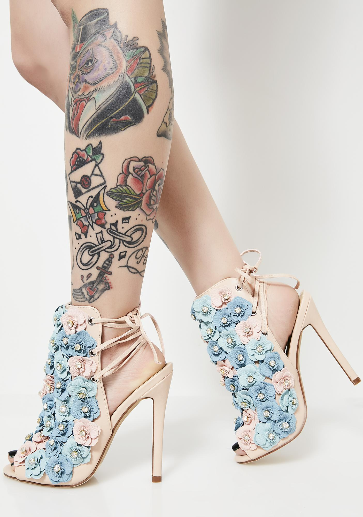 Classic Gal Floral Heels