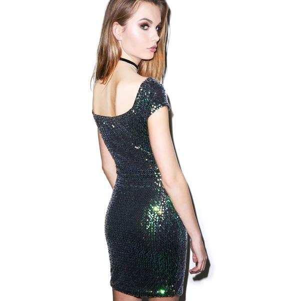 Motel Iridescent Debbie Dress