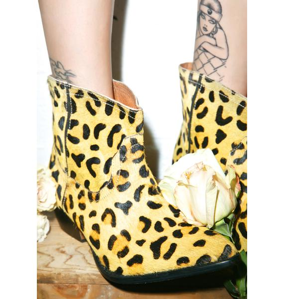 One Teaspoon Leopard Le Rebel Bootie