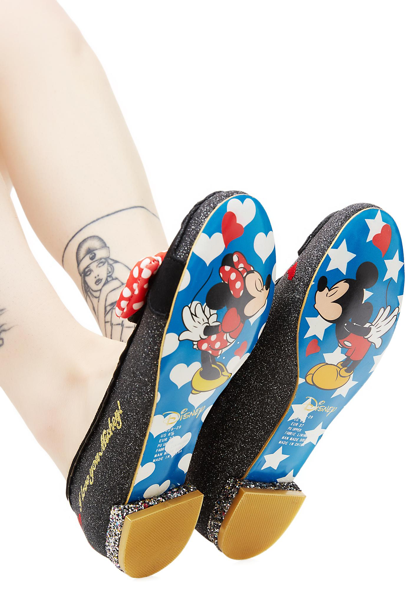 Irregular Choice Why Hello! Mickey & Minnie Flats