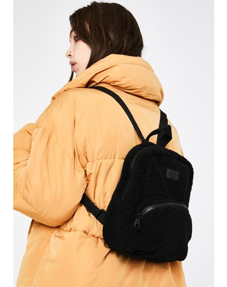 Black Sherpa Mini Backpack
