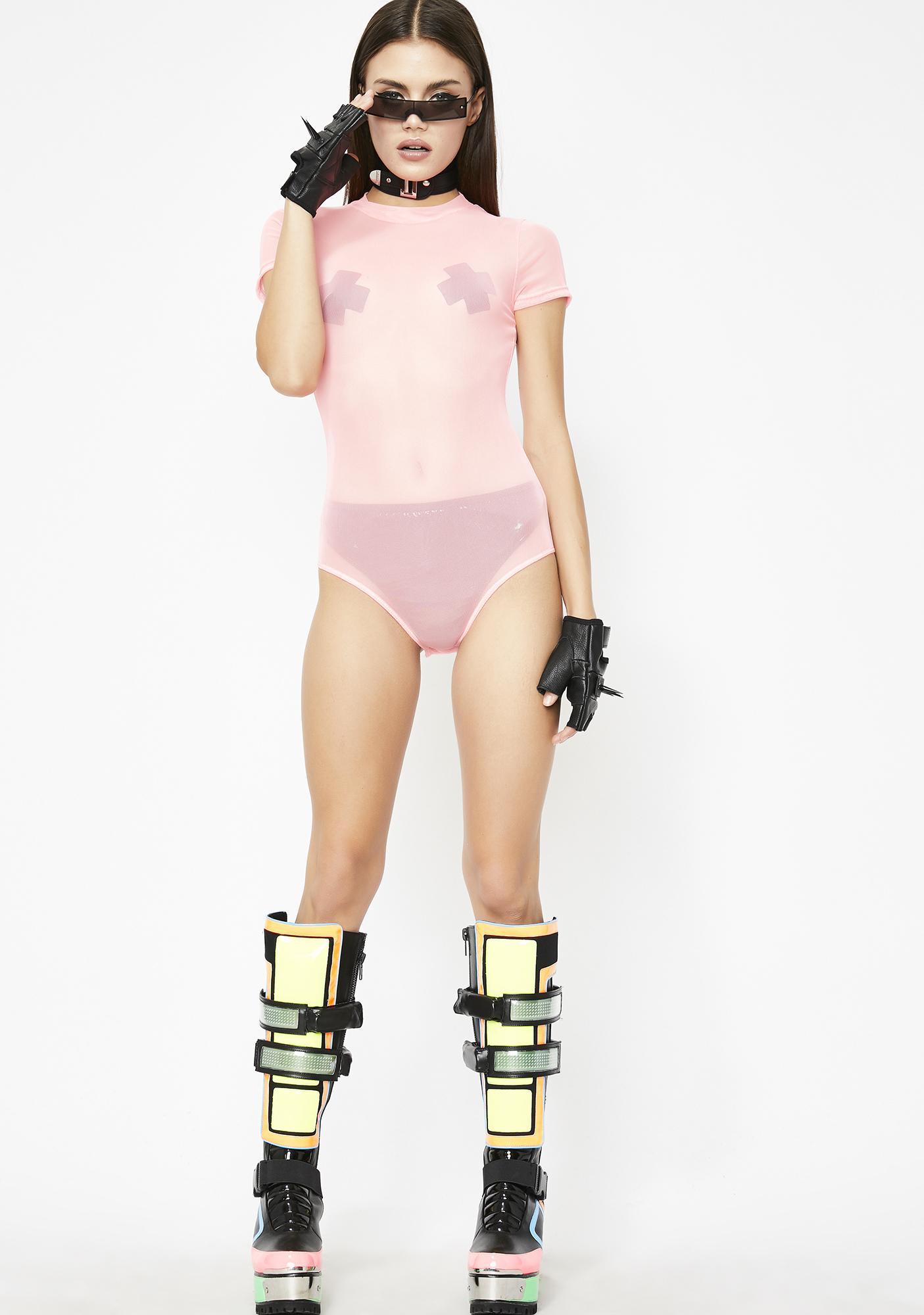 Pretty Hard Candy Mesh Bodysuit