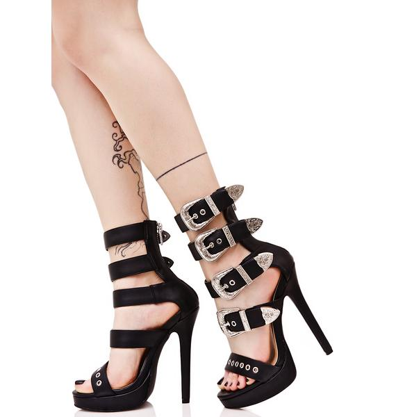 Current Mood Gilly Buckled Heels