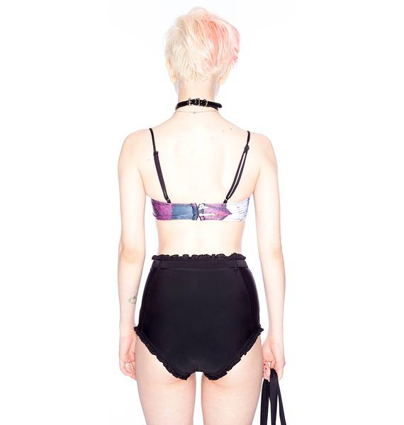 One Teaspoon Night Daisy High Waist Underwire Bikini
