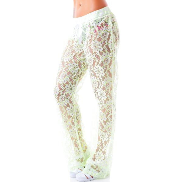 It's Too Late Lace Pants